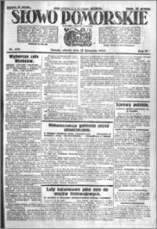 Słowo Pomorskie 1924.11.18 R.4 nr 268