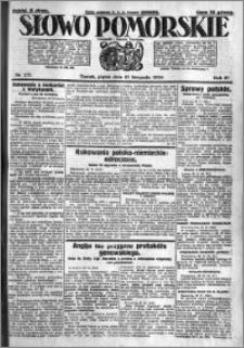 Słowo Pomorskie 1924.11.21 R.4 nr 271