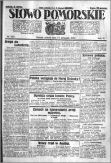 Słowo Pomorskie 1924.11.22 R.4 nr 272