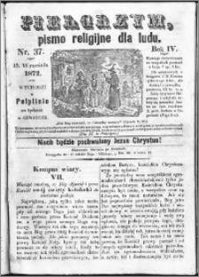 Pielgrzym, pismo religijne dla ludu 1872 nr 37