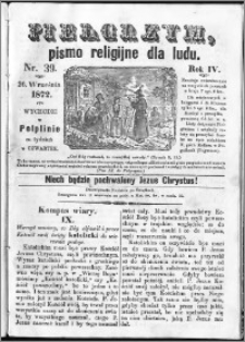 Pielgrzym, pismo religijne dla ludu 1872 nr 39
