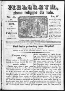 Pielgrzym, pismo religijne dla ludu 1872 nr 42