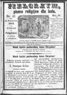 Pielgrzym, pismo religijne dla ludu 1872 nr 43