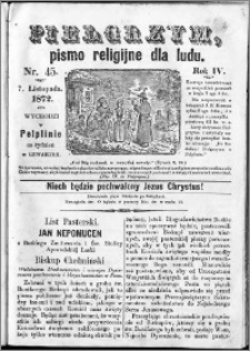 Pielgrzym, pismo religijne dla ludu 1872 nr 45