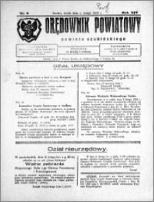 Orędownik Powiatowy powiatu Szubińskiego 1933.02.01 R.14 nr 9