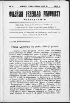 Wileński Przegląd Prawniczy 1930, R. 1 nr 3