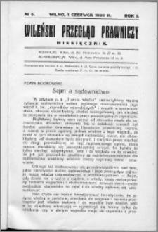 Wileński Przegląd Prawniczy 1930, R. 1 nr 5