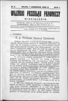 Wileński Przegląd Prawniczy 1930, R. 1 nr 8