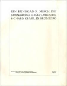 Rundgang durch die Gruenauersche Buchdruckerei Richard Krahl in Bromberg