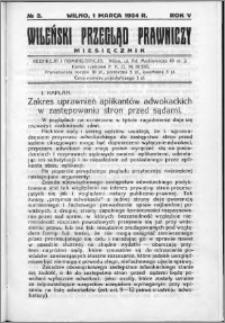 Wileński Przegląd Prawniczy 1934, R. 5 nr 3