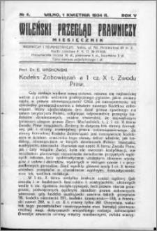 Wileński Przegląd Prawniczy 1934, R. 5 nr 4