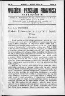 Wileński Przegląd Prawniczy 1934, R. 5 nr 5