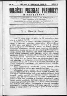Wileński Przegląd Prawniczy 1934, R. 5 nr 6