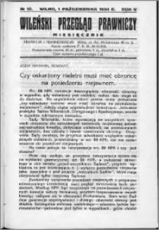 Wileński Przegląd Prawniczy 1934, R. 5 nr 10