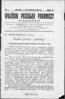 Wileński Przegląd Prawniczy 1935, R. 6 nr 1