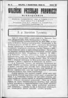Wileński Przegląd Prawniczy 1935, R.6 nr 4