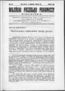 Wileński Przegląd Prawniczy 1935, R.6 nr 5