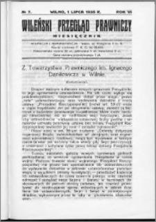 Wileński Przegląd Prawniczy 1935, R.6 nr 7