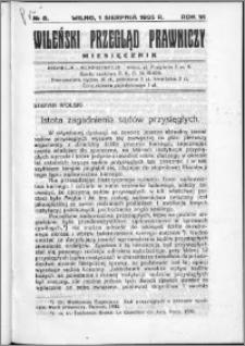 Wileński Przegląd Prawniczy 1935, R.6 nr 8