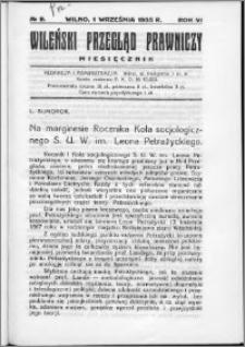 Wileński Przegląd Prawniczy 1935, R.6 nr 9