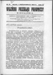 Wileński Przegląd Prawniczy 1935, R.6 nr 10
