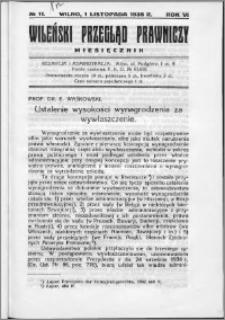 Wileński Przegląd Prawniczy 1935, R.6 nr 11