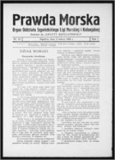 Prawda Morska 1934, R. 1, nr 10