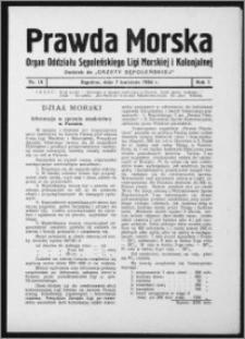 Prawda Morska 1934 R. 1, nr 15