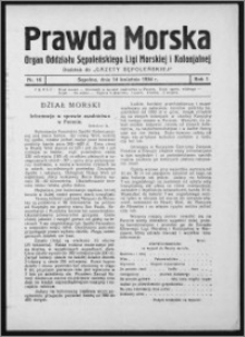 Prawda Morska 1934, R. 1, nr 16