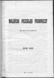 Wileński Przegląd Prawniczy 1936, R. 7 nr 1