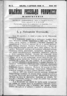 Wileński Przegląd Prawniczy 1936, R. 7 nr 2