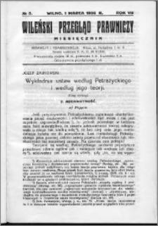 Wileński Przegląd Prawniczy 1936, R. 7 nr 3