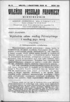 Wileński Przegląd Prawniczy 1936, R. 7 nr 4