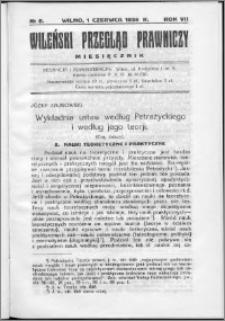 Wileński Przegląd Prawniczy 1936, R. 7 nr 6