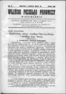 Wileński Przegląd Prawniczy 1936, R. 7 nr 7