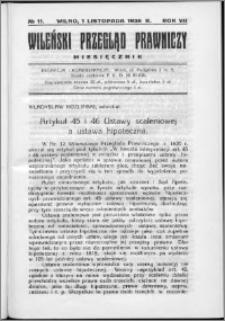 Wileński Przegląd Prawniczy 1936, R. 7 nr 11