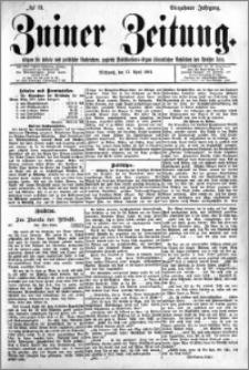 Zniner Zeitung 1901.04.17 R.14 nr 31