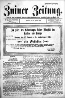 Zniner Zeitung 1902.01.15 R.15 nr 5