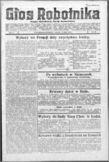 Głos Robotnika 1924, R. 5 nr 58