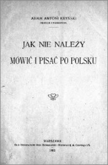 Jak nie należy mówić i pisać po polsku