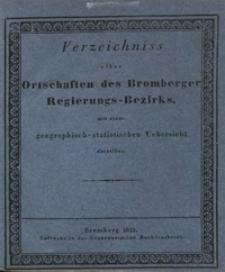 Verzeichniss aller Ortschaften des Bromberger Regierungs-Bezirks : mit einer geographisch-statistischen Übersicht derselben.