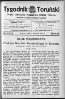 Tygodnik Toruński 1926, R. 3, nr 17