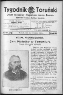 Tygodnik Toruński 1926, R. 3, nr 37