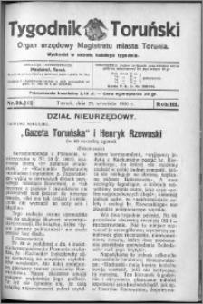 Tygodnik Toruński 1926, R. 3, nr 39