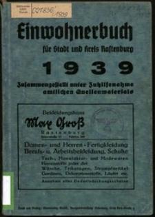 Einwohnerbuch für Stadt und Kreis Rastenburg : 1939