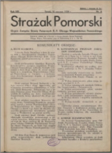 Strażak Pomorski 1934, R. 8 nr 6