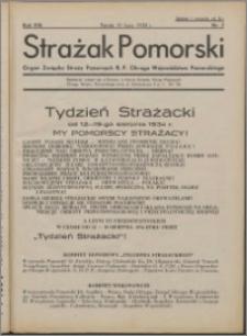Strażak Pomorski 1934, R. 8 nr 7