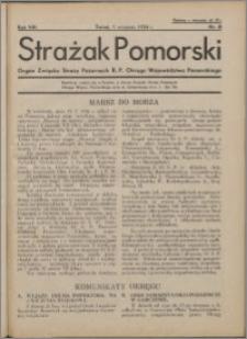 Strażak Pomorski 1934, R. 8 nr 8