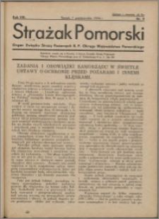 Strażak Pomorski 1934, R. 8 nr 9