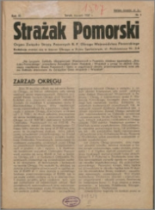 Strażak Pomorski 1937, R. 11 nr 1